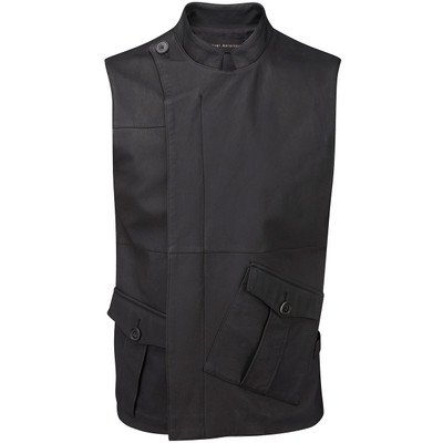 Patch Pocket Leather Vest