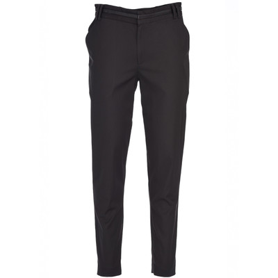 Contrast Leather Waistband Tailored Trouser
