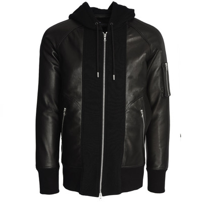 Leather Sweatshirt Hoodie Hybrid