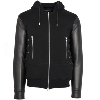 Hybrid Leather Sweat Hoodie