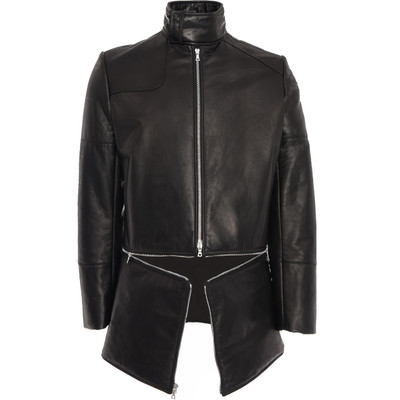 Convertible Leather Coat Jacket