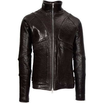 Santiago Pebbled Leather Jacket