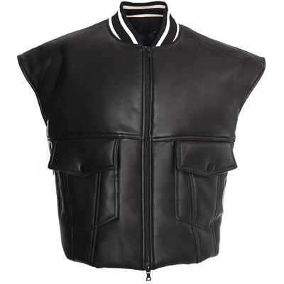 Padded Vest Leather