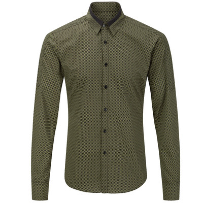 Contrast Point Collar Shirt