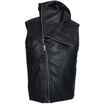 Funnel Neck Biker Vest