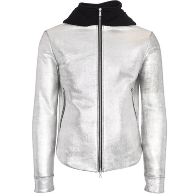 Hooded Distressed Leather Jacket