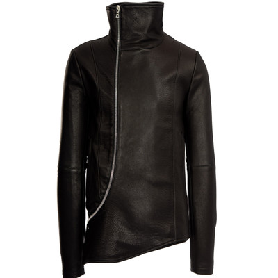 Rex Funnel Neck Leather Jacket