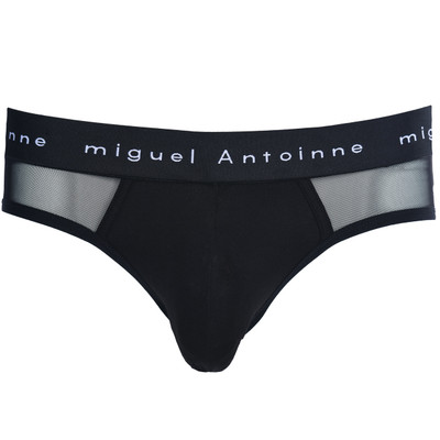 Black White Micro Mesh Briefs