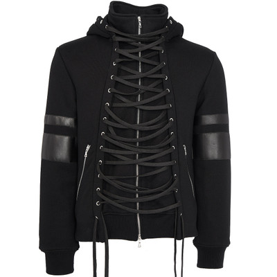 Laced Sweat Hoodie, Black
