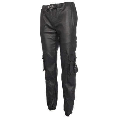 Stretch Leather Cargo Pants