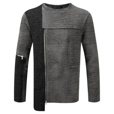 Patchwork Sweat Shirt - Grey