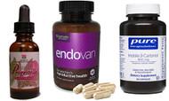Bioidentical Natural Progesterone Skin Oil, Endovan, Indole-3-Carbinol 400 mg 60 caps