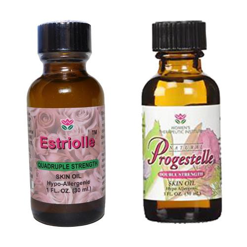 1 bottle Estriolle and 1 bottle Progestelle