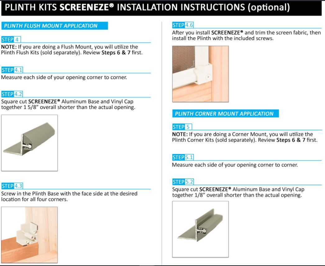 Screeneze Porch Parts Top Rated Screened In Porch Parts