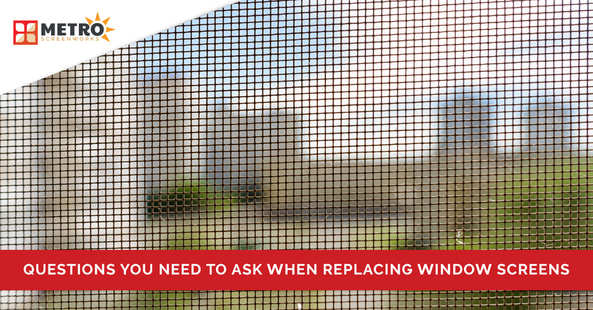 Questions You Need To Ask When Replacing Window Screens