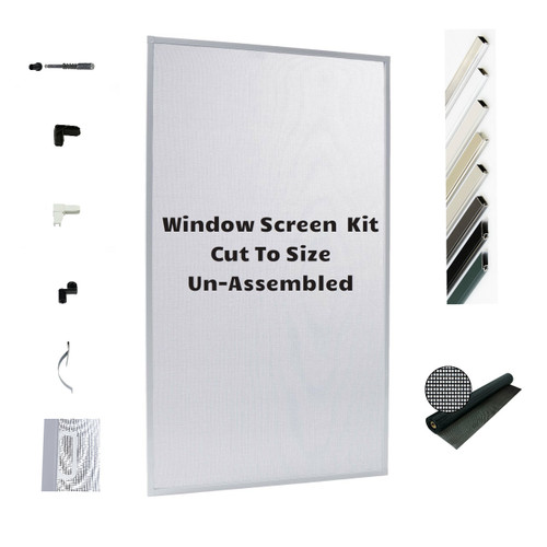 Window Screen Kit DIY - Small Kit- Save on Shipping And Lead Time