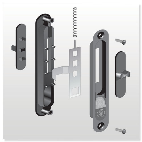 1580 XO Series Handle Set - Part # 20.70.14.3840