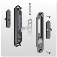 1580 OX Series Handle Set - Part # 20.70.14.3841