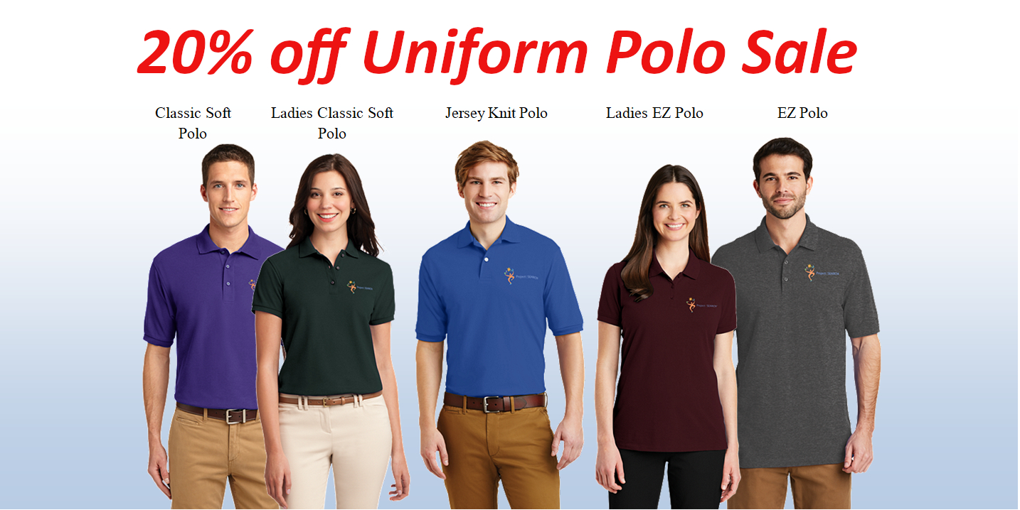 20% off Uniform Polo Sale