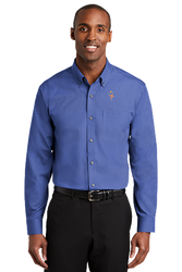 Sale! Mens Redhouse Non-Iron Shirt Tall (4XL-Med Blue)
