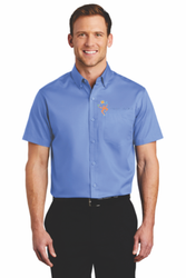 Sale! Mens Twill Shirt Shirt  (S-Ultramarine Blue)