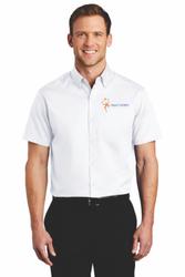 Sale! Mens Twill Shirt (L-White)