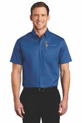 Sale! Mens Twill Shirt (L-True Blue)