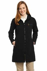 Sale! Hooded Soft Shell Long Jacket M-(Black)