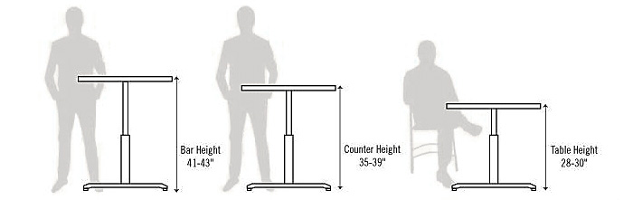 Magnificent Height Options And Definitions For Table Legs Closet Masters Beutiful Home Inspiration Aditmahrainfo