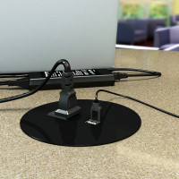Cove Round - Clamp Mount (1 to 2 Power plus Active USB Options) (COV-R-2-B-108)