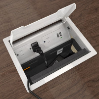 Seclusion Hide It Kit for Recessed Desktop Installation (HIDEIT-S-B-K) Open