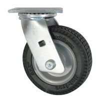 "Rubber 6"" Caster with Rotating Plate"