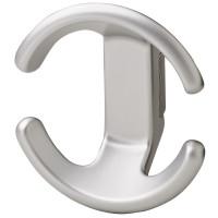 Hafele-Coat-Hooks-Zinc-die-cast-843.65.600-Matt Aluminum