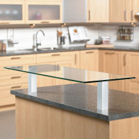 "Square 7-1/2"" Glass Countertop Support"