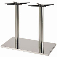 Verona Stainless Steel Rectangular Table Base - Table Height