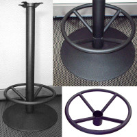Signature Series Round Disc Base with Foot Ring - Bar Height