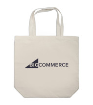 Front view of the canvas BigCommerce tote bag