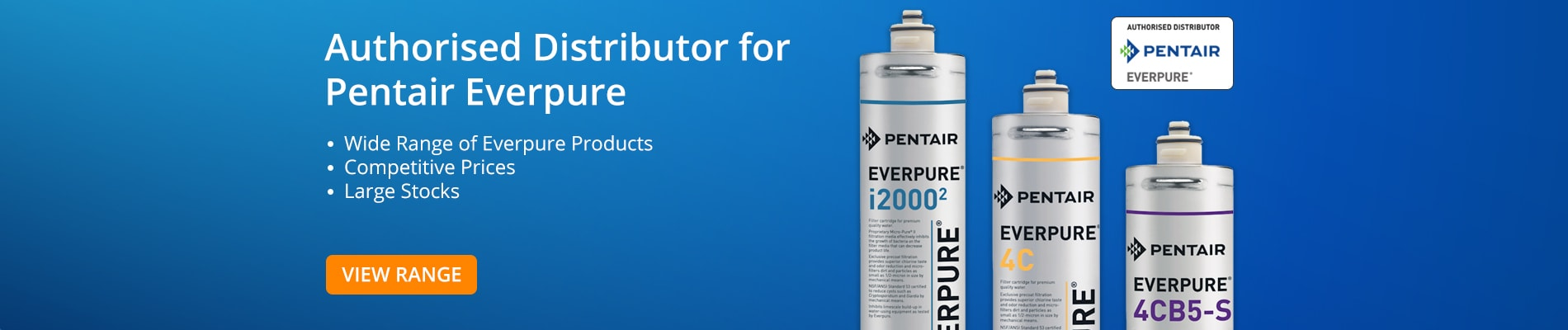 Authorised Distributor for Pentair Everpure