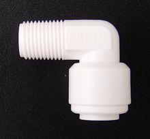 "1/8"" Male NPTF Thread x 1/4"" Push fit Elbow"