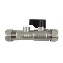 Compression Isolator Valve 15mm with Double Check Valve