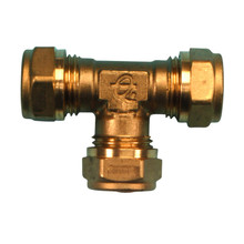 Compression Equal Tee 15mm (Brass)
