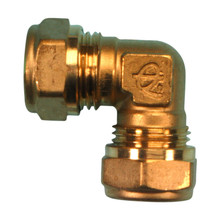 Compression Elbow 15mm 90 deg. (Brass)