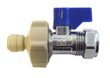 """15mm Compression Isolater x 3/8"""" Push Fit Fitting for Fridge Filters"""