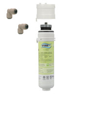 "Hydro+ Eco Filter System Inc. 1 Micron Carbon Block With 1/4"" Push Fits"