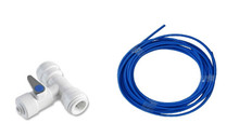 "Fridge Fitting Kit-  1/4"" John Guest Tubing and Tee Valve"