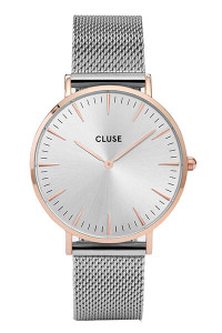 Cluse La Boheme Mesh Rose Gold/Silver Womens Mesh Watch CW0101201006