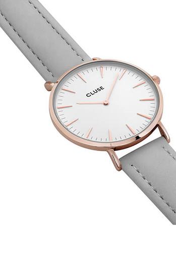 Cluse La Bohème Rose Gold White Grey Womens Watch CL18015