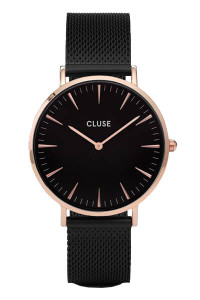 Cluse La Boheme Mesh Rose Gold Black/Black Womens Mesh Watch CW0101201010
