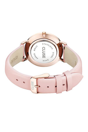 Cluse La Bohème Rose Gold White Pink Womens Leather Watch CW0101201012