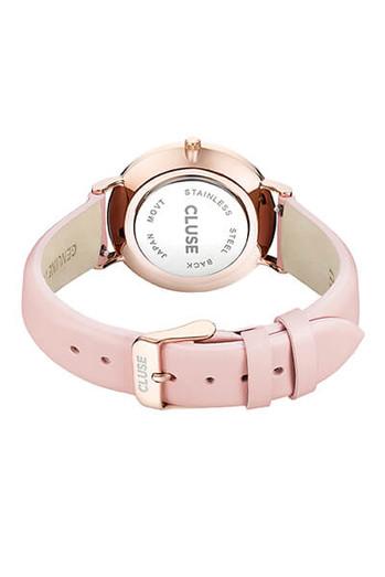 Cluse La Bohème Rose Gold White Pink Womens Leather Watch CL18014